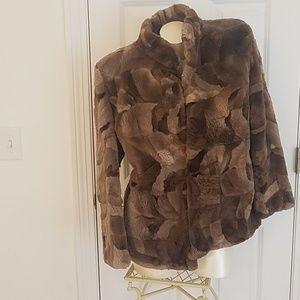 Vtg sheared beaver jacket S tlc